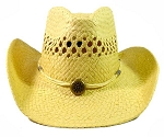Wholesale Western Cowboy Straw Hats - Beige (natural)