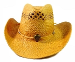 Wholesale Western Cowboy Straw Hats - Sand Brown