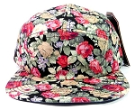 Wholesale 5 Panel Blank Floral Camp Hats - All Flower 1