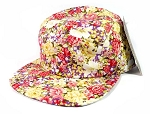 Wholesale 5 Panel Blank Floral Camp Hats - All Flower 3