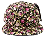 Wholesale 5 Panel Blank Floral Camp Hats - All Flower 5