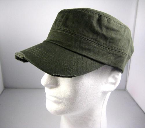 Blank Plain Cadet Style Castro Hat Wholesale Olive Green