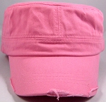 Blank Cadet Hats Wholesale - Light Pink Vintage Distressed Cap