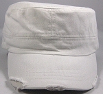 Blank Cadet Hats Wholesale - White Vintage Distressed Caps