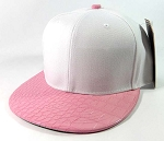 Wholesale Blank Alligator/Croc Snapback Hats Caps - White | Pink