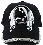 Native Pride Buffalo Dreamcatcher Baseball Caps Wholesale - Black