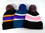 Pom Pom Beanies Winter Hats Wholesale - Multiple Colors 2