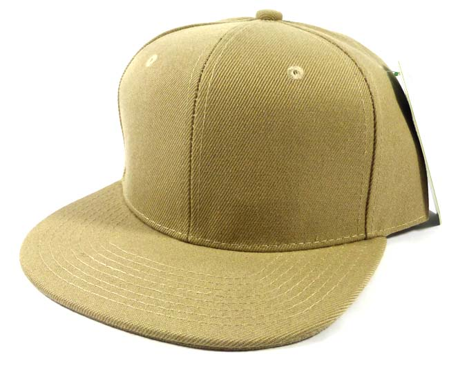 Wholesale Blank Snapback Hats Caps - Khaki 619c399aeff