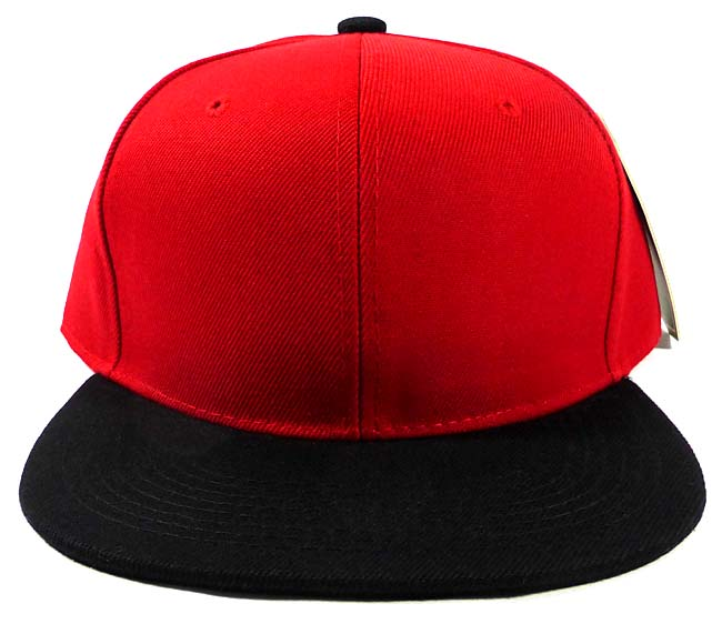 Wholesale Blank Snapback Hats Caps - Red  45a68a75834