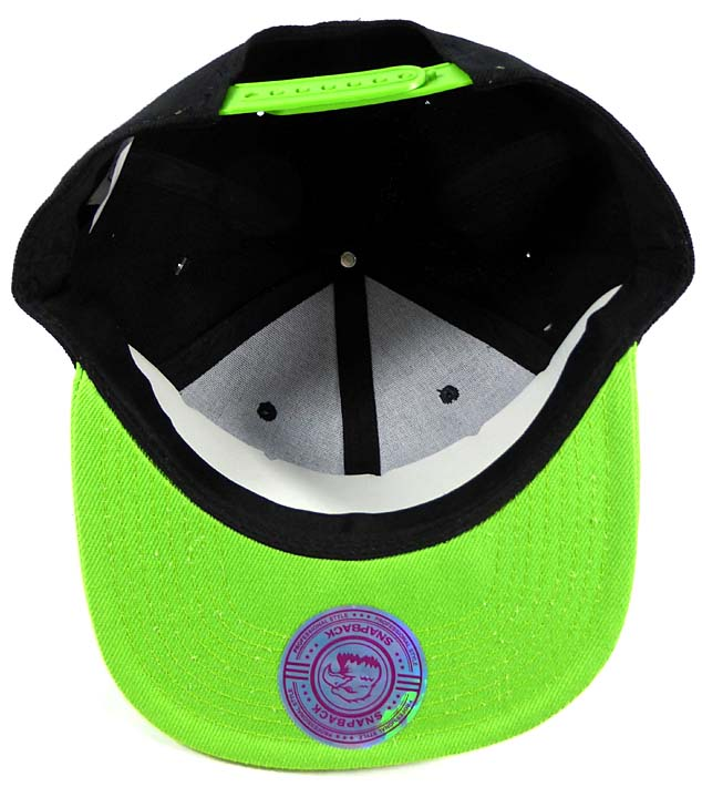f2e91be0f03 cheap wholesale blank snapback hats caps black lime green b214b 925b4