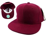 Blank Burgundy Snapback Hats Caps Wholesale - Burgundy Solid