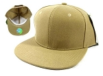 Wholesale Blank Snapback Hats Caps - Khaki