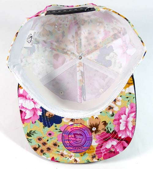 aedf55f7 Wholesale Blank Floral Snapback Hats Caps - Hawaiian Flower | Black Brim