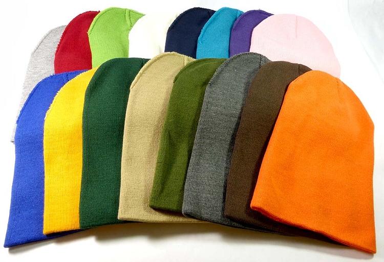 18f49c45226 Cuff Long Beanies Wholesale Winter Hats Wholesale - All Colors - Acrylic Beanie  Bulk