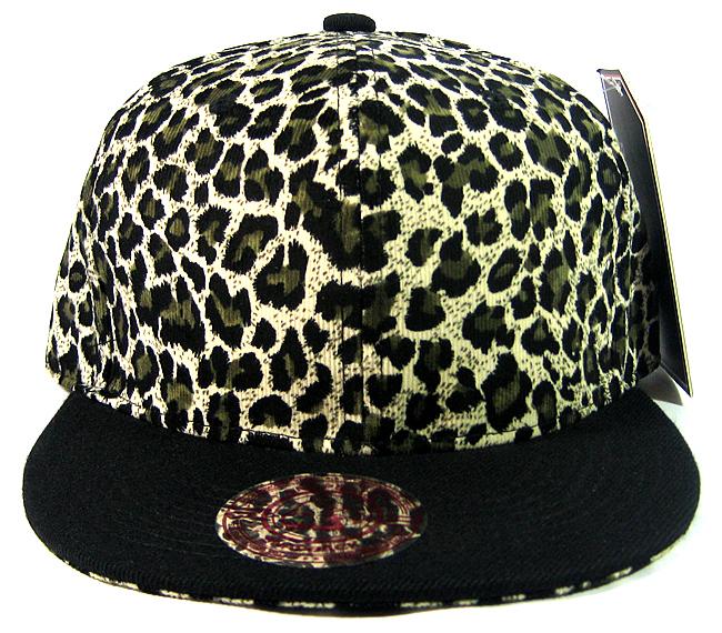 Blank Vintage Cheetah Snapbacks Hats Wholesale - Olive Green Crown b16da8b1dc8