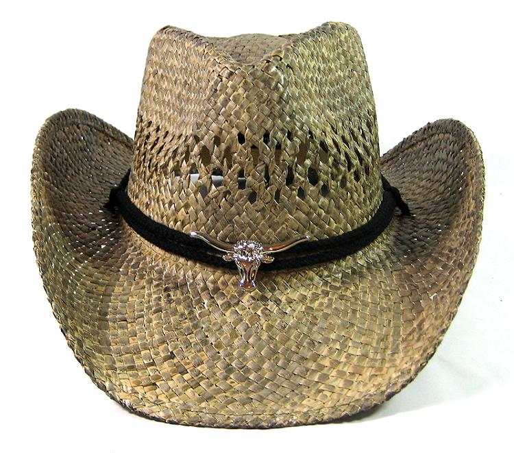 Wholesale Western Straw Cowboy Hats Cowgirl Theme Texas Longhorn Bulk  Accessories c6b1d5c7ddf