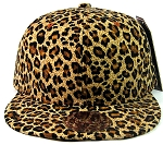 Blank Cheetah Snapbacks Hats Wholesale - All Cheetah | Brown
