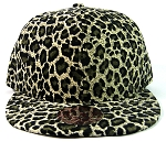 Blank Vintage Cheetah Snapbacks Hats Wholesale - All Cheetah | Olive Green