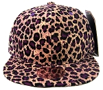 Blank Vintage Cheetah Snapbacks Hats Wholesale - All Cheetah | Purple