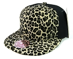 Blank Vintage Cheetah Snapbacks Hats Wholesale - 6 Panel | Olive Green
