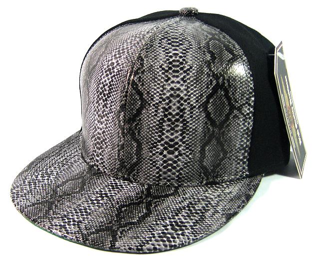 a92fca2e Blank Snakeskin Snapback Hats Wholesale - 6 Panel | Black