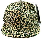 Plain Leopard/Cheetah Snapback Hats Wholesale - Shiny Green