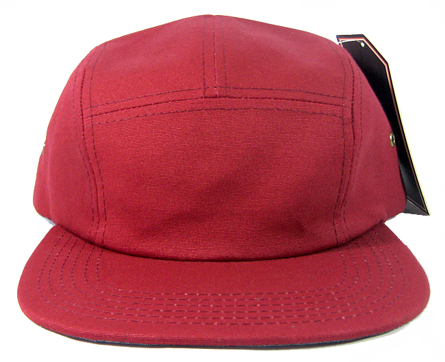 Wholesale Blank 5 Panel Camp Hats Caps Burgundy Bulk 72d340feed0c