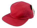 Blank 5 Panel Camp Hats/Caps Wholesale - Burgundy