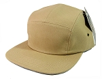 Blank 5 Panel Camp Hats/Caps Wholesale - Khaki