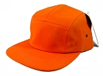 Blank 5 Panel Camp Hats/Caps Wholesale - Orange