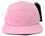 Blank 5 Panel Camp Hats/Caps Wholesale - Soft Pink