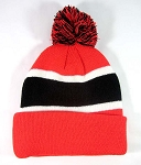 Wholesale Winter Pom Pom Beanies - Red | Black