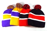 Pom Pom Beanies Wholesale Hats - Multicolored