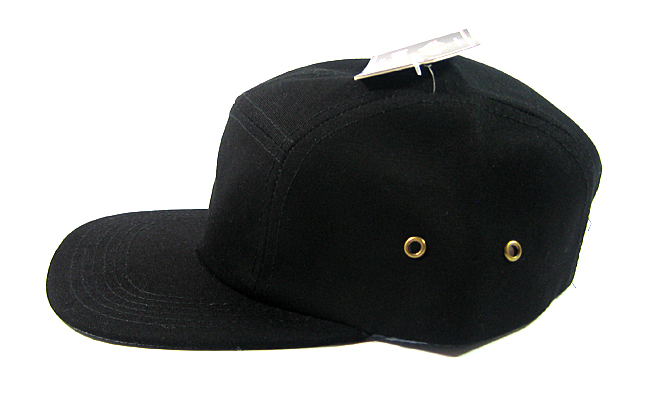 Blank 5 Panel Camp Hats Caps Wholesale - Solid Black 672f6ce7c0d8