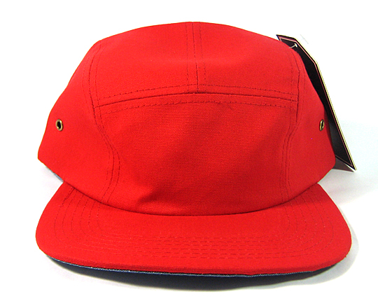 Blank 5 Panel Camp Hats Caps Wholesale - Red e79dfde09f4