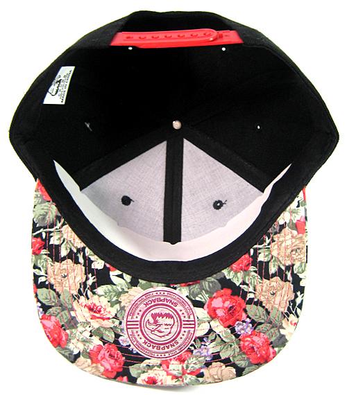 76880046e9c Wholesale Blank Floral Snapback Hats - Black