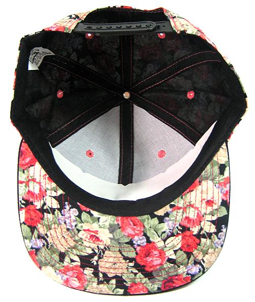 897eab3f848 Wholesale Blank Floral Snapbacks Hats - Red Flowers