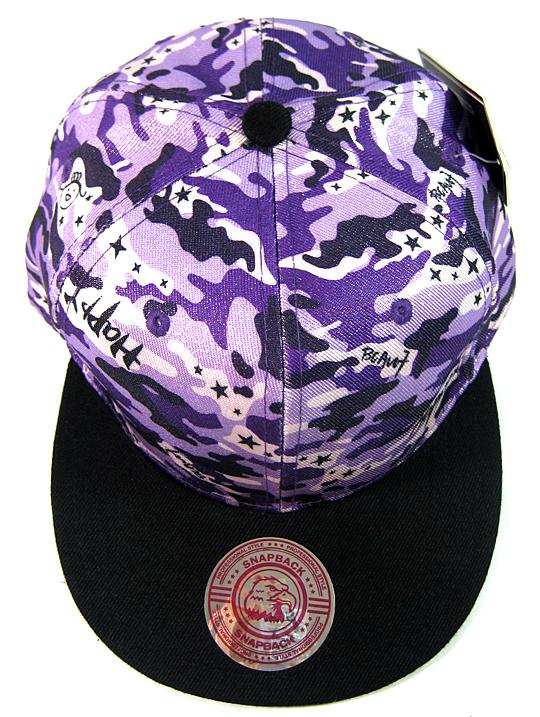Wholesale Blank Snapback Hats - Purple Camo  72382cd287ba