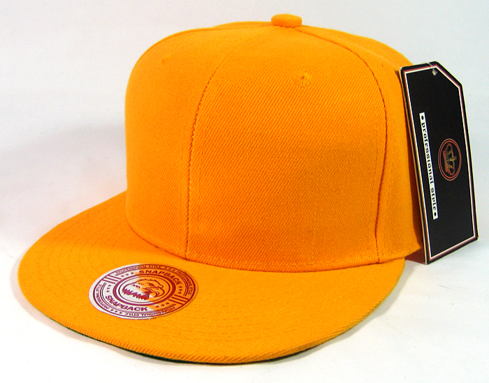 485be27a7 Blank Plain Vintage Snapback Caps Wholesale - Solid Golden Yellow