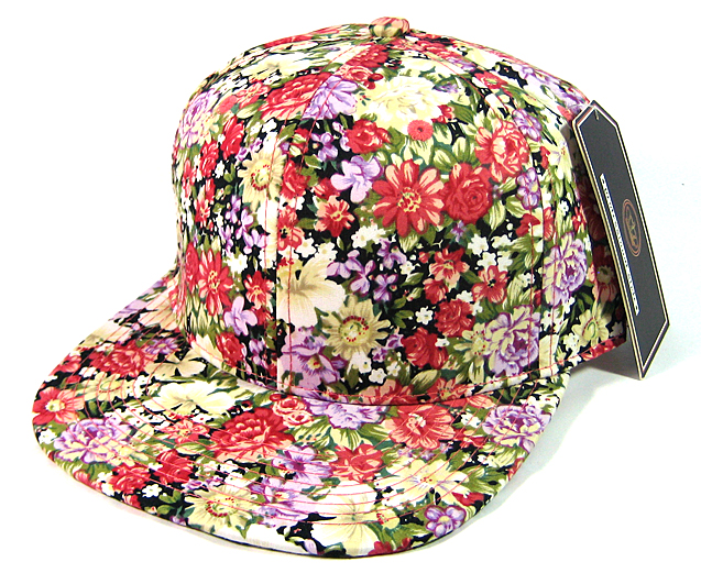 Home   ALL HATS   Wholesale Blank Floral Snapbacks Caps - All Floral  774af975055