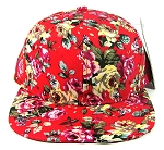 Wholesale Blank Floral Snapbacks Caps - All Floral | Red Hats