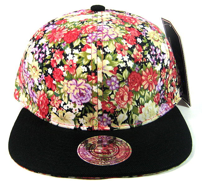 b150e544fa9 Home   ALL HATS   Wholesale Blank Floral Snapbacks Hats - Var Red Flowers