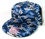Wholesale Blank Snapback Hats - Camouflage | Blue