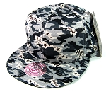 Wholesale Blank Snapback Hats - Camouflage | Gray
