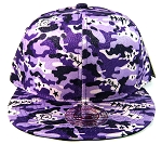 Wholesale Blank Snapback Hats - Camouflage | Purple