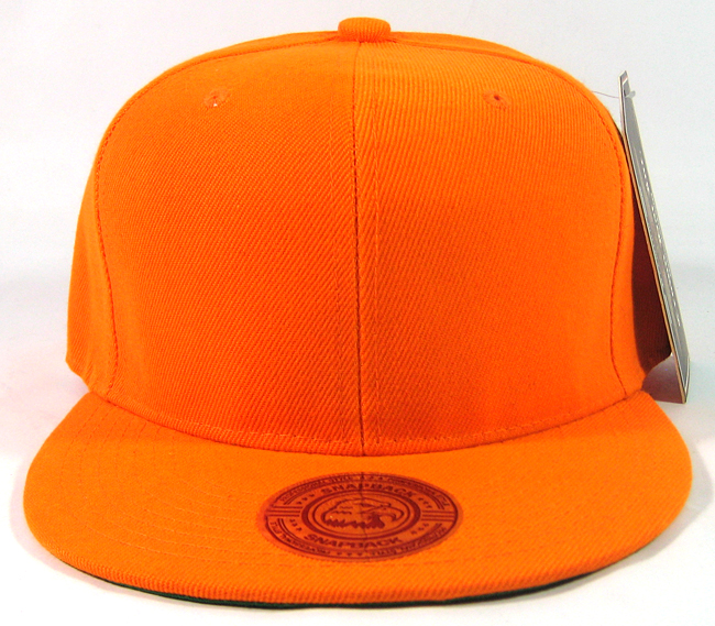 b299790946da1 Home   ALL HATS   Blank Plain Vintage Snapback Hats Wholesale - Solid Orange