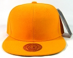 Blank Plain Vintage Snapback Caps Wholesale - Solid Golden Yellow