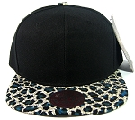 Blank Vintage Cheetah Snapback Hats Wholesale - Blue
