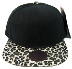 Blank Vintage Cheetah Snapback Hats Wholesale - Olive Green