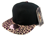 Blank Vintage Cheetah Snapback Hats Wholesale - Purple (12 pcs left)